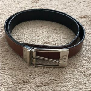 Dolce and Gabbana double sided belt